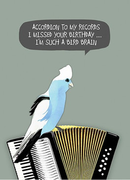 accordion to my records belated birthday card