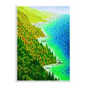 coastline & trees sympathy card