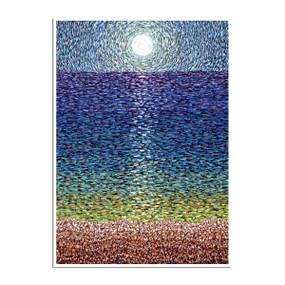 moonlight sonata ocean greeting card