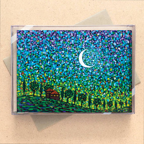 silver moon mini boxed cards