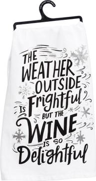 wine delightful dish towel