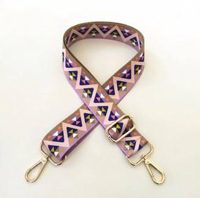 shoulder bag guitar strap, olive and purple