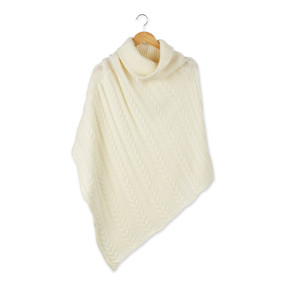 marissa knit poncho, cream