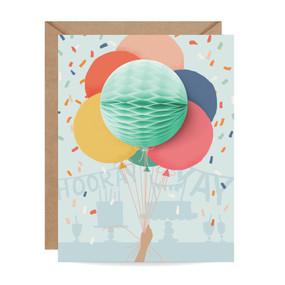 balloon bunch pop-up birthday card