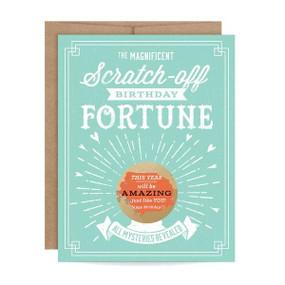 mint birthday fortune scratch off card