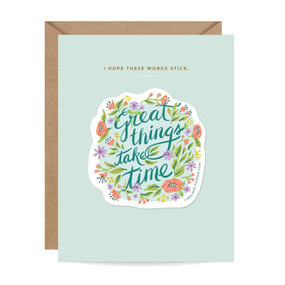 great things sticker card