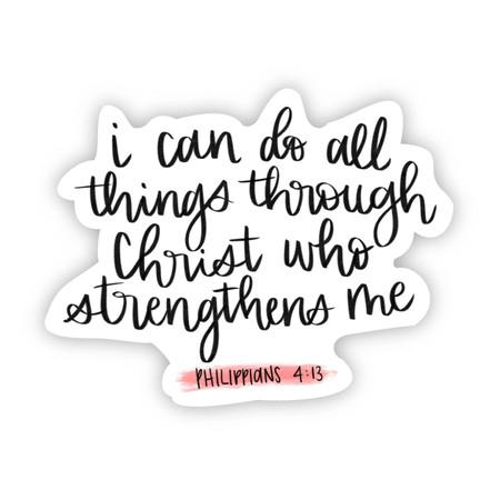 all things through Christ sticker