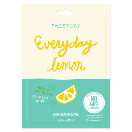 everyday lemon brightening mask