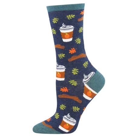 pumpkin spice womens crew socks
