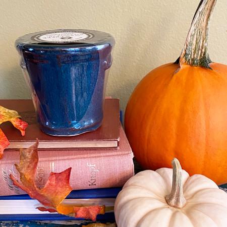 small cache pot candle 3 oz., all spice pumpkin