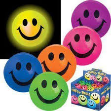 light up happy ball (assorted)