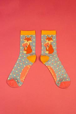 foxy love ankle socks blue