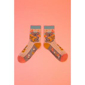 musical koala ankle socks