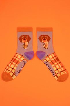 pringle sausage ankle socks lilac