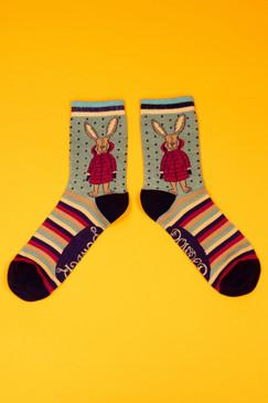 puffa jacket bunny ankle socks