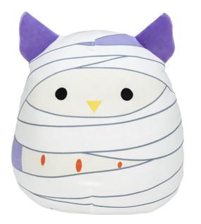 "halloween squishmallows 12"", mummy owl"