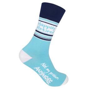 happily retired unisex socks