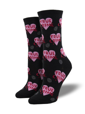 true crime women crew socks