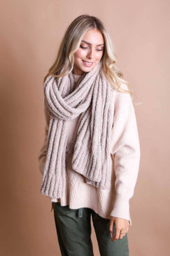 ultra soft boucle knit scarf