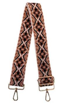 black and tan aztec guitar bag strap