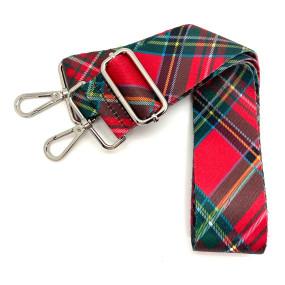 red tartan plaid guitar bag strap