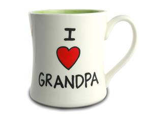I Love Heart Grandpa Ceramic Coffee Mug Gift For Fathers Day Birthday