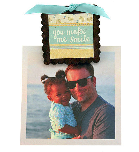 you make me smile whimsical picture photo clip fridge magnet cute stocking stuffer gift for mom mothers day