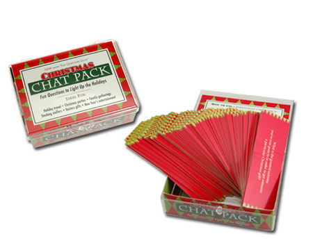 chat pack unique conversation holiday christmas theme game great stocking stuffer fun questions to ask people hostess gift stocking stuffer