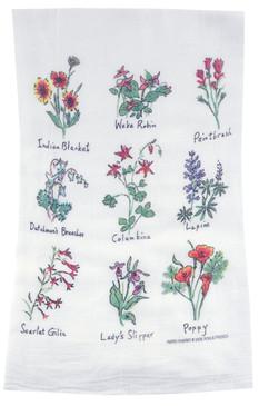 Flour Sack Towel Wildflowers