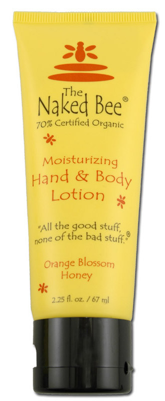 naked bee orange blossom moisturizing body hand lotion honey organic made in usa aloe green white tea 2 oz ounces stocking stuffer for girl gift for mom grandma sister girlfriend wife bath body dye free
