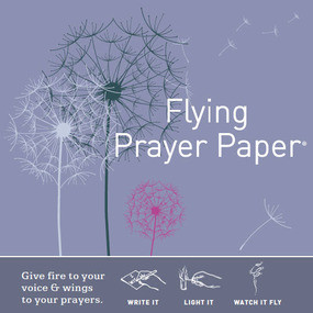 Dandelion Flying Wish Prayer Paper