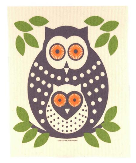 owl dish cloth kitchen towel cellulose cotton earth eco friendly sponge alternative unique scandanavian