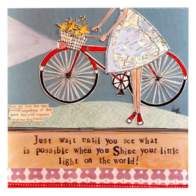 Just wait until you see what is possible when you shine your little light on the world curly girl designs whimsical cute refrigerator fridge magnet gift graduation young woman