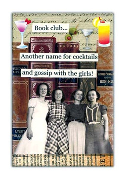 book club another name for cocktails and gossip with girls fridge refrigerator retro magnet gift for girlfriend