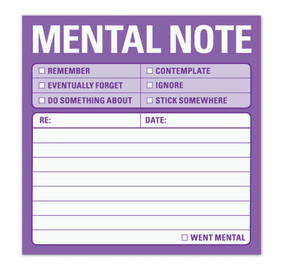 mental note reminder post it sticky knock knock funny office gift co worker