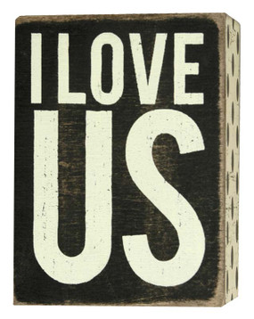 i love us  rustic wood box sign great gift for girlfriend boyfriend husband wife