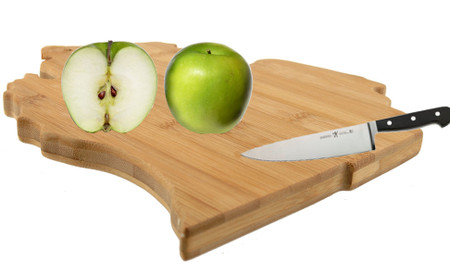 state of michigan bamboo cutting serving board cute kitchen accessory gadget tool