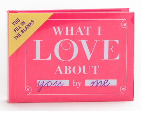 what i love about you by me book gift for boyfriend girlfriend husband wife