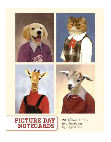 picture day animal pet cat dog notecard stationery boxed set