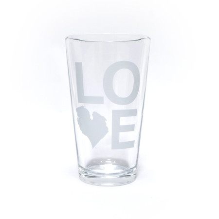 love michigan great lakes state beer pint glass great gift for dad boyfriend girlfriend wife husband beer lover