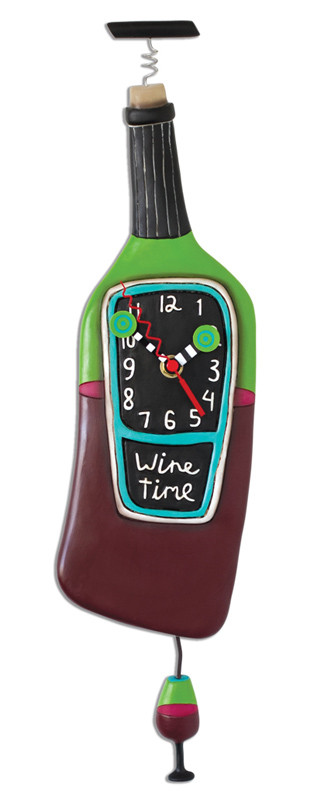 corked wine bottle pendulum clock great gift for wine lover mom friend red wine white wine michelle allen designs