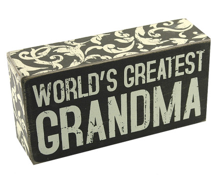 worlds greatest grandma rustic vintage wooden box sign home decor gift mothers day birthday