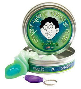 crazy aarons foxfire phantom thinking putty mint green shimmer glitter stocking stuffer boys girls guys