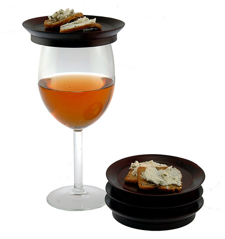 wine glass top appetizer plate set great unique hostess gift mom wine lover sister girlfriend housewarming