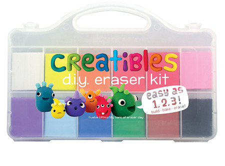 creatibles diy do it yourself eraser craft kit make your own pliable reusable clay