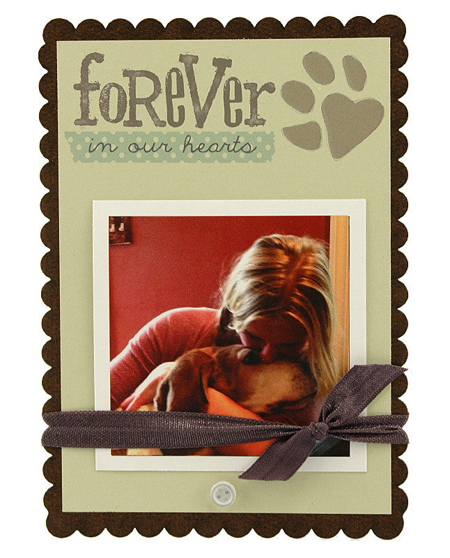 Forever In Our Hearts Sweet Scallop Frame Pet Frame Dog Frame