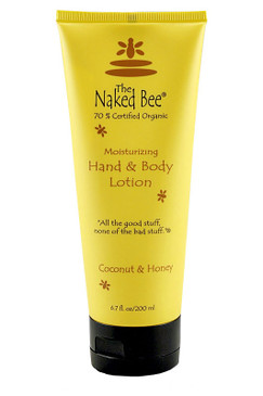 naked bee coconut moisturizing body hand lotion honey organic made in usa aloe green white tea 6 oz ounces stocking stuffer for girl gift for mom grandma sister girlfriend wife bath body dye free tropical scent