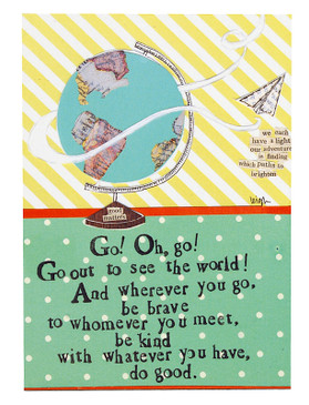 go out to see the world curly girl magnet inspirational gift for graduate teen girl