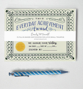 everyday achievement award note pad emily mcdowell cute gift for co worker friend office fun