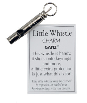 tiny little whistle pocket keyring keychain charm safety security